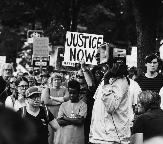 Justice Now march