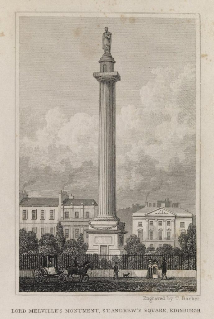 Lord Melville's Monument, 1829